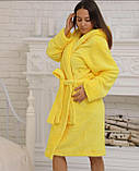 Халаты банные махровые с капюшоном до колена, размеры M-XXL Турция, фото 3