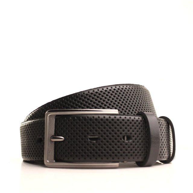 Ремень кожаный Lazar 170-175 см черный L35U1W85-2