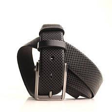 Ремень кожаный Lazar 170-175 см черный L35U1W85-2, фото 2