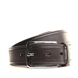Ремень кожаный Lazar 130-140 см черный L35U1W89-1