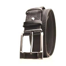 Ремень кожаный Lazar 120-125 см черный L40Y1W16, фото 2