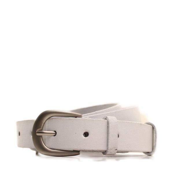 Ремень кожаный Lazar 105-110 см белый L25S0W92