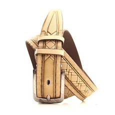 Ремень кожаный Lazar 120-125 см бежевый L35U1W94, фото 2