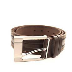 Ремень кожаный Lazar 115-120 см коричневый-рыжий L40S1W26, фото 3