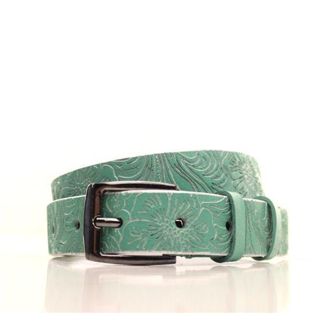 Ремень кожаный Lazar 115 см зеленый L25S0W96