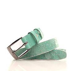 Ремень кожаный Lazar 115 см зеленый L25S0W96, фото 3
