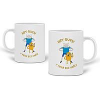 Кружка Финн и Джейк пес Время Приключений (Adventure Time) 330 мл Чашка Керамическая (20259-1579), фото 1