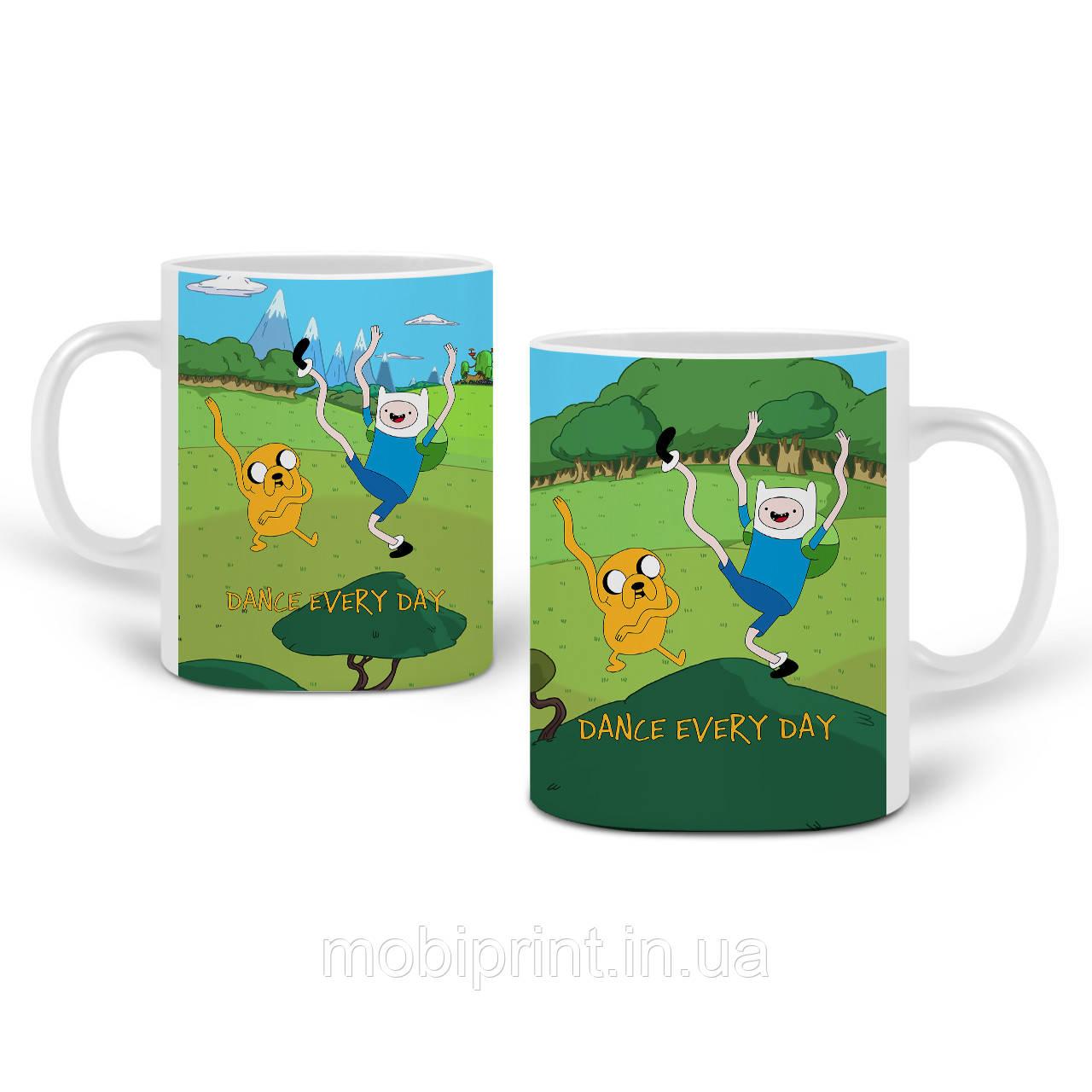 Кружка Финн и Джейк пес Время Приключений (Adventure Time) 330 мл Чашка Керамическая (20259-1580)