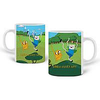 Кружка Финн и Джейк пес Время Приключений (Adventure Time) 330 мл Чашка Керамическая (20259-1580), фото 1