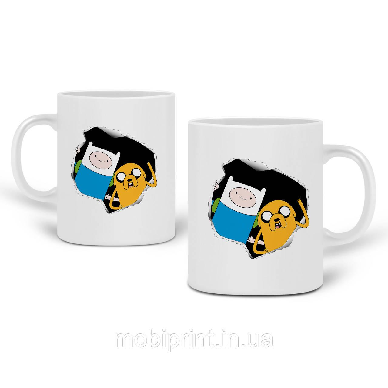 Кружка Финн и Джейк пес Время Приключений (Adventure Time) 330 мл Чашка Керамическая (20259-1581)