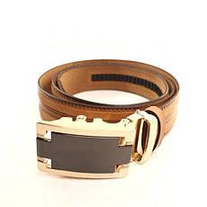 Ремень кожаный Lazar 105-115 см оранжевый l35y1a49, фото 2