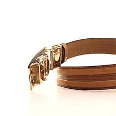 Ремень кожаный Lazar 105-115 см оранжевый l35y1a49, фото 3