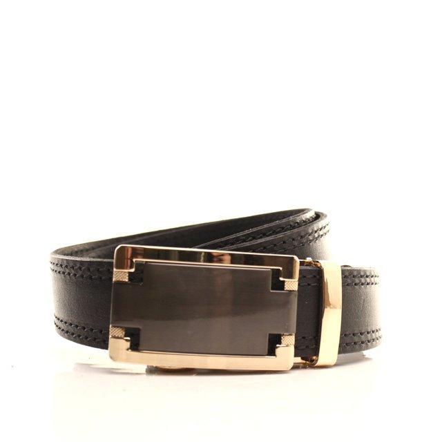 Ремень кожаный Lazar 105-115 см черный l35y1a47