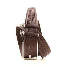 Ремень кожаный Lazar 120-125 см бежевый L35U1W100, фото 2