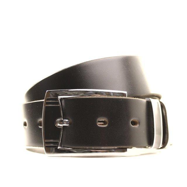 Ремень кожаный Lazar 105-110 см черный l35b1w6