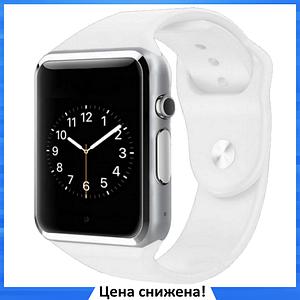 Умные часы Smart Watch Phone A1, смарт часы в стиле Apple Watch Белые