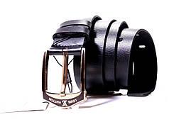 Ремень кожаный Lazar 100-110 см черный Л40И0Ш1, фото 2