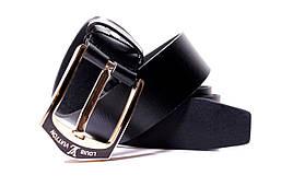 Ремень кожаный Lazar 100-110 см черный Л40И0Ш1, фото 3