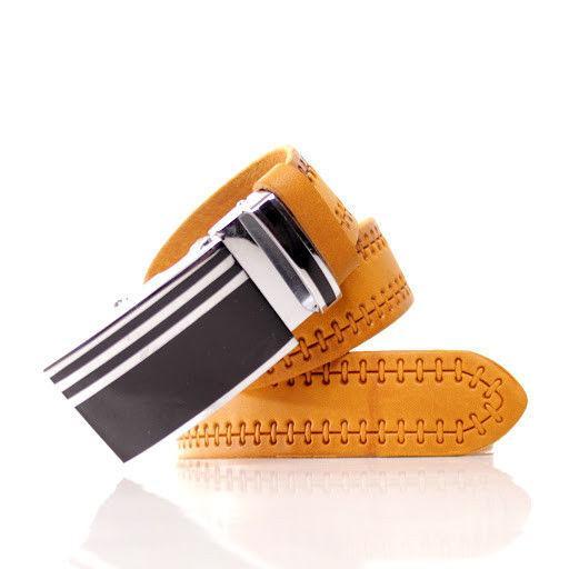 Ремень кожаный Lazar 105-110 см оранжевый л35в1а68