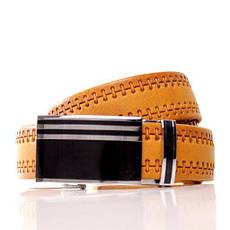 Ремень кожаный Lazar 105-110 см оранжевый л35в1а68, фото 2