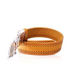 Ремень кожаный Lazar 105-110 см оранжевый л35в1а68, фото 3