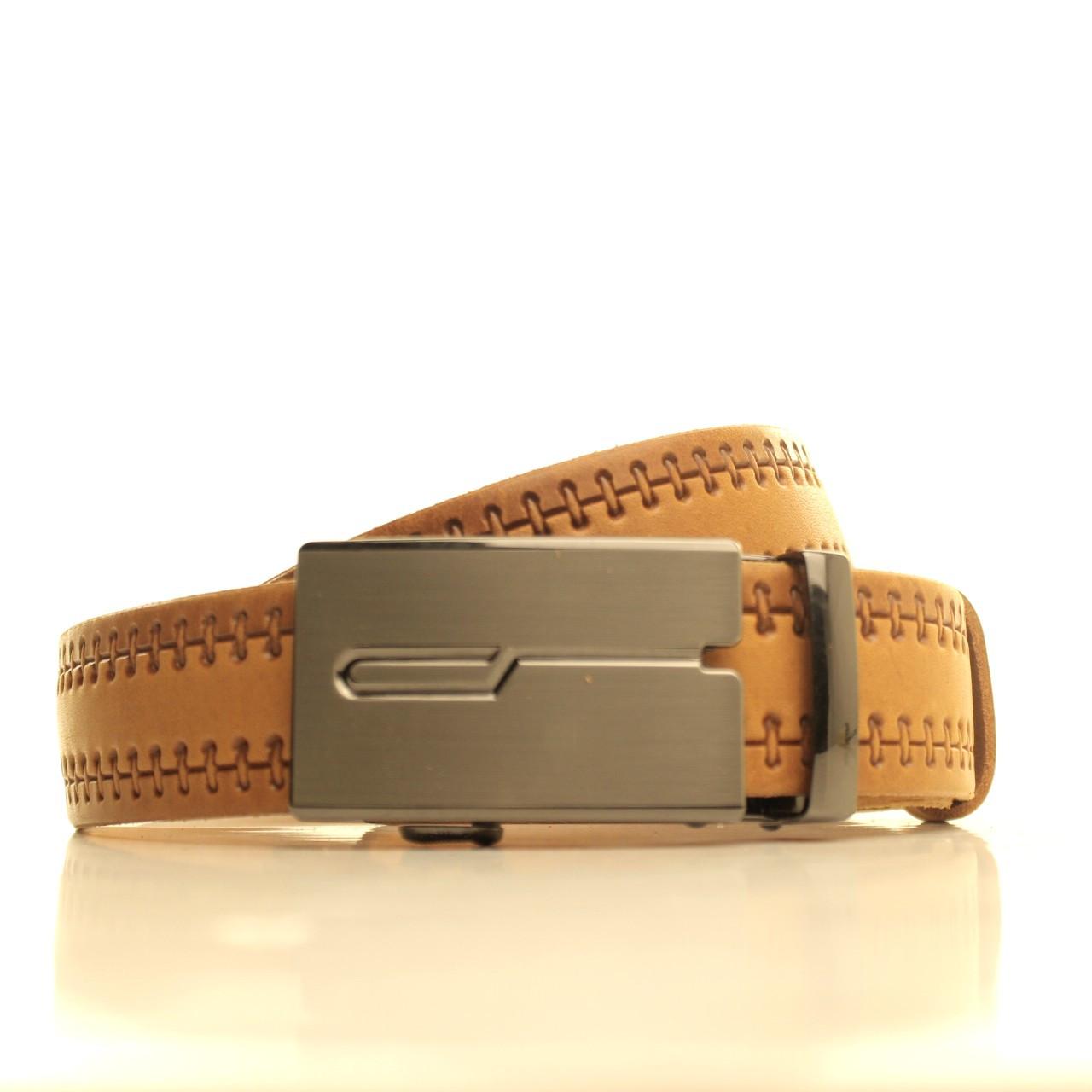 Ремень кожаный Lazar 105-115 см рыжий l35u1a106