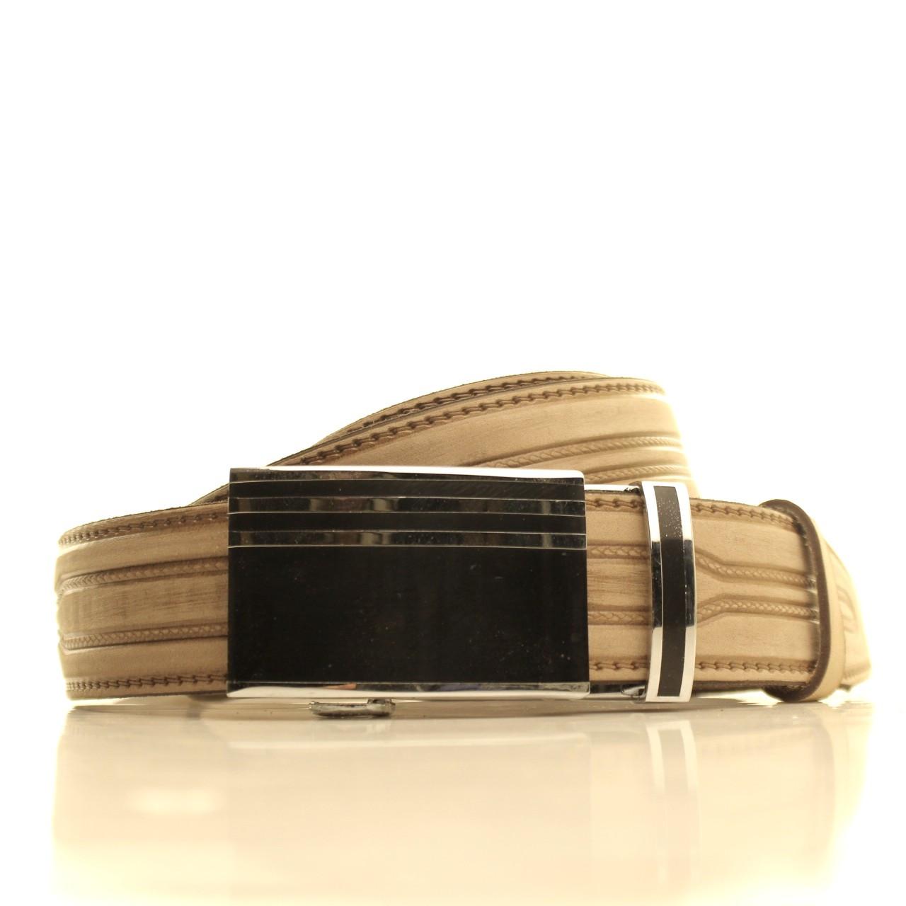 Ремень кожаный Lazar 105-115 см бежевый l35u1a112