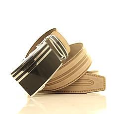 Ремень кожаный Lazar 105-115 см бежевый l35u1a112, фото 3