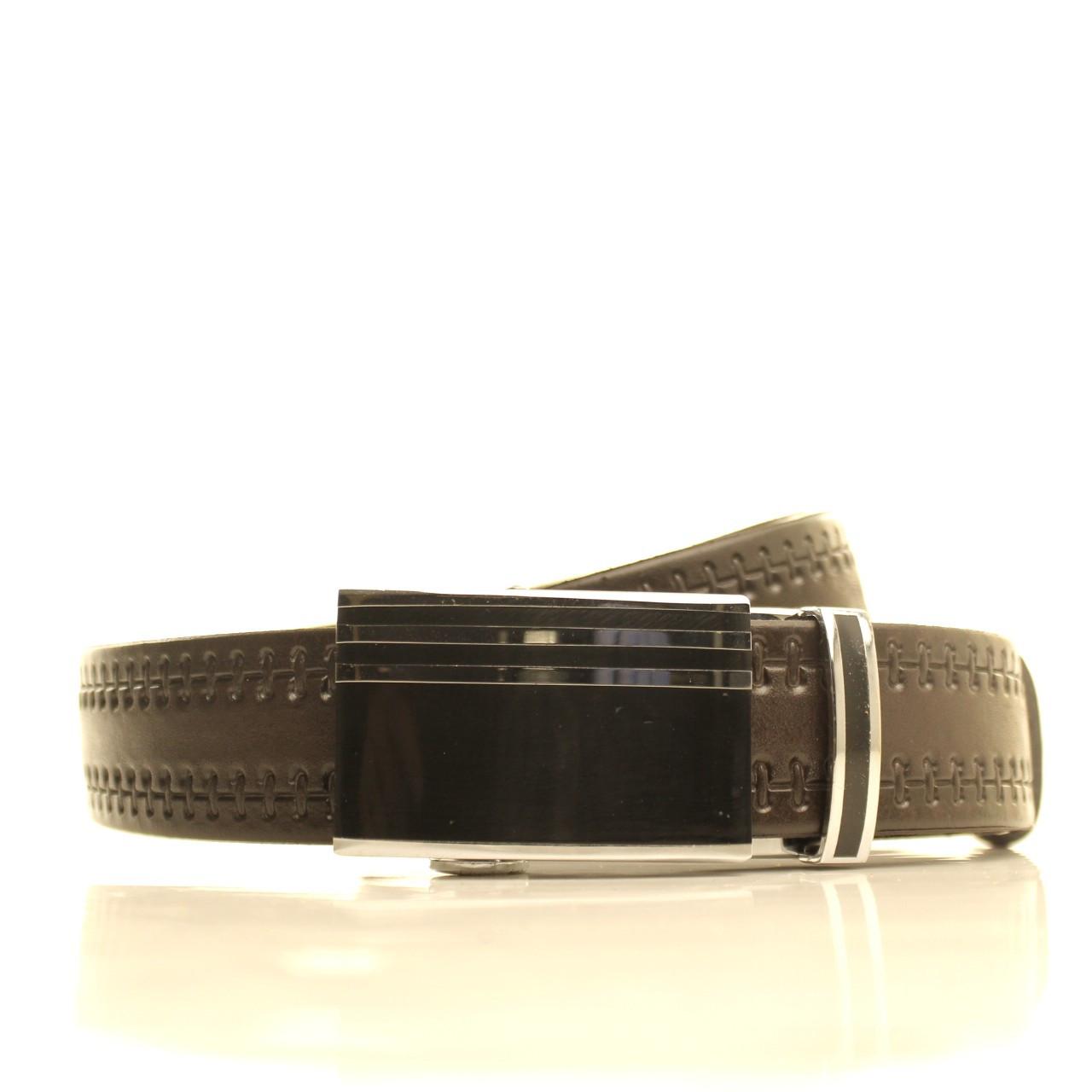 Ремень кожаный Lazar 105-115 см коричневый l35u1a116