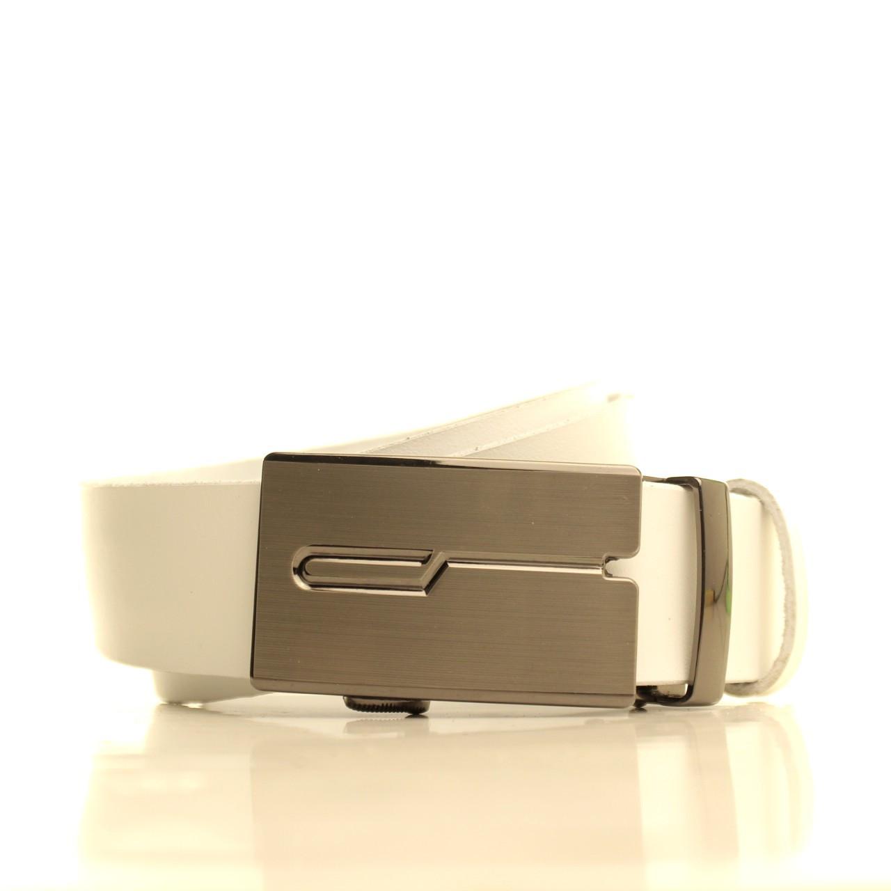 Ремень кожаный Lazar 105-115 см белый l35u1a123