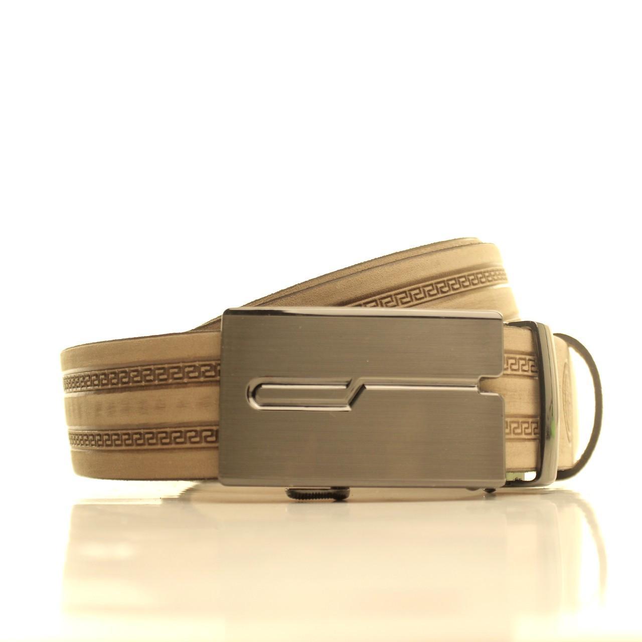 Ремень кожаный Lazar 105-115 см бежевый l35u1a133
