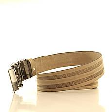 Ремень кожаный Lazar 105-115 см бежевый l35u1a133, фото 3