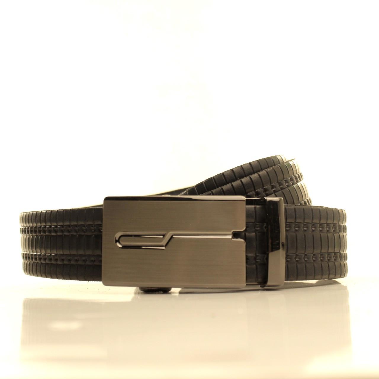Ремень кожаный Lazar 105-115 см черный l35u1a147