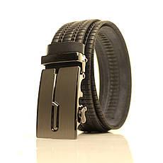 Ремень кожаный Lazar 105-115 см черный l35u1a147, фото 3
