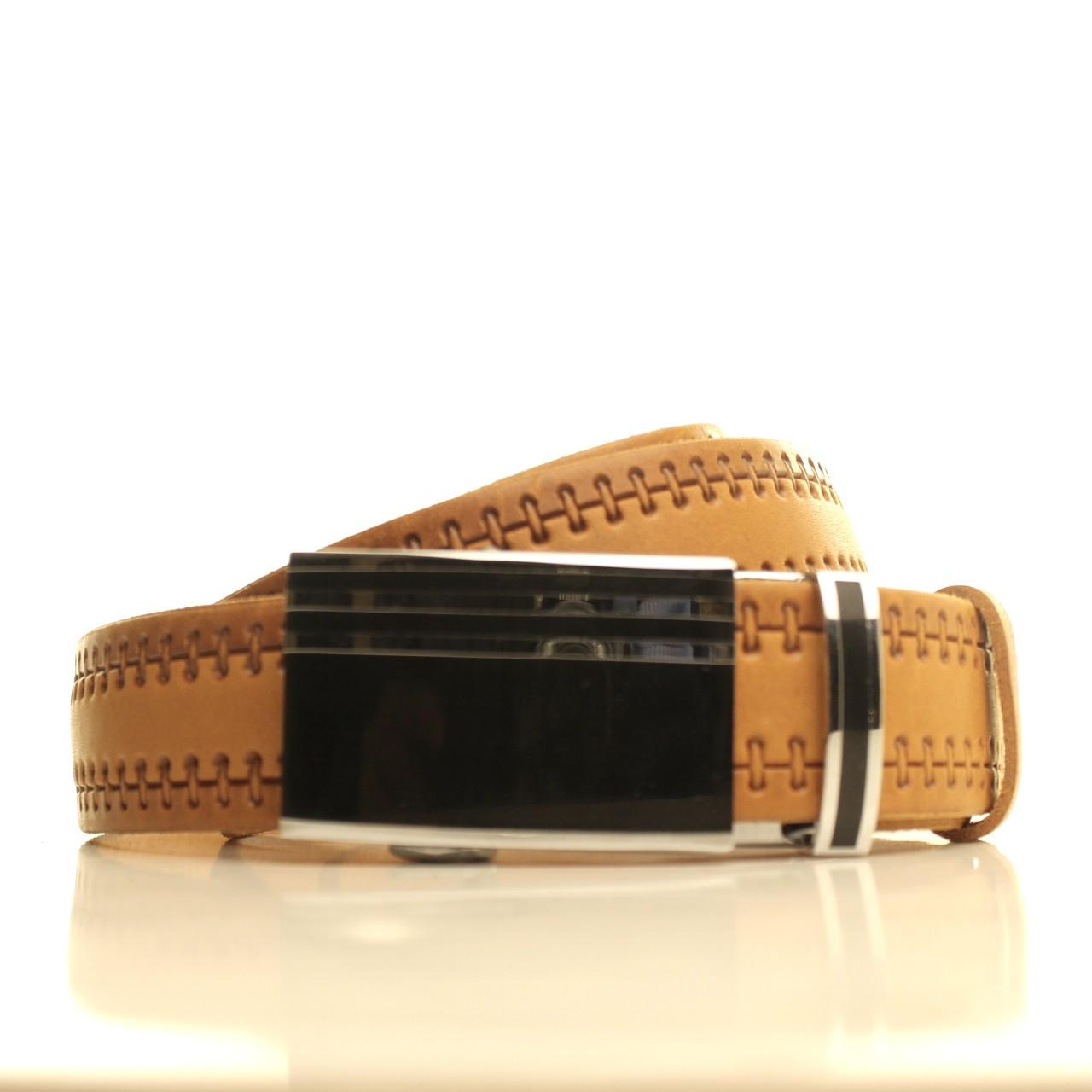 Ремень кожаный Lazar 120-125 см коричневый l35u1a117