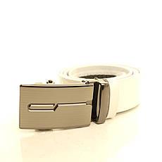 Ремень кожаный Lazar 120-125 см белый l35u1a123, фото 2