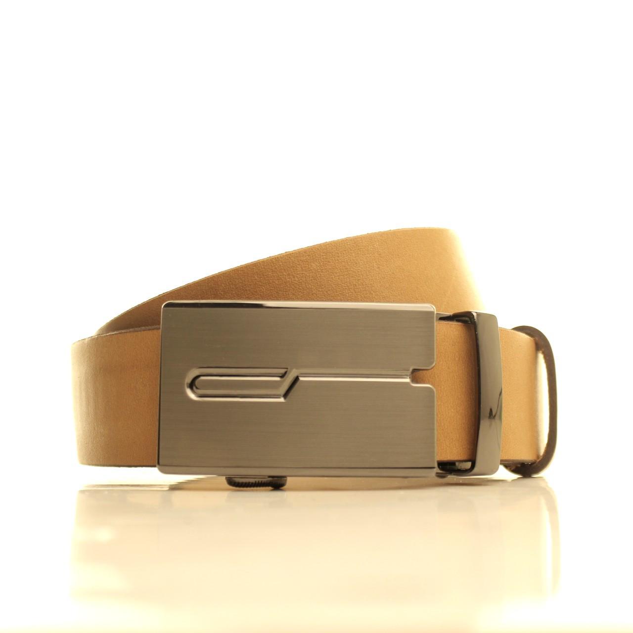 Ремень кожаный Lazar 120-125 см белый l35u1a125