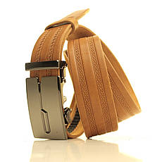 Ремень кожаный Lazar 120-125 см бежевый l35u1a136, фото 2