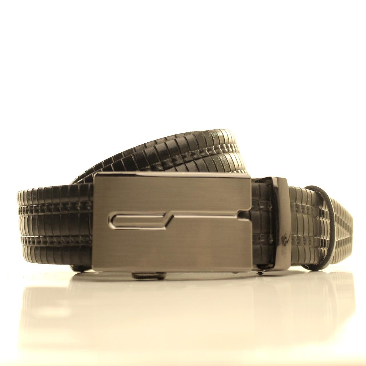 Ремень кожаный Lazar 120-125 см черный l35u1a149