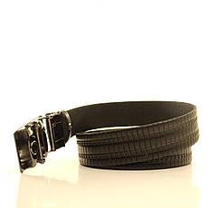 Ремень кожаный Lazar 120-125 см черный l35u1a149, фото 3