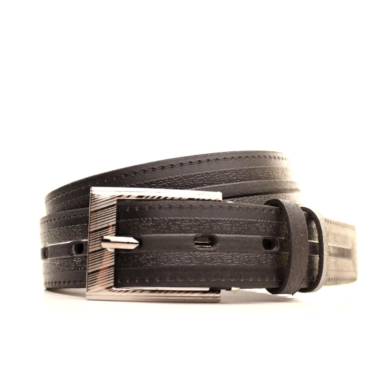 Ремень кожаный Lazar 120-125 см черный l30s1w10