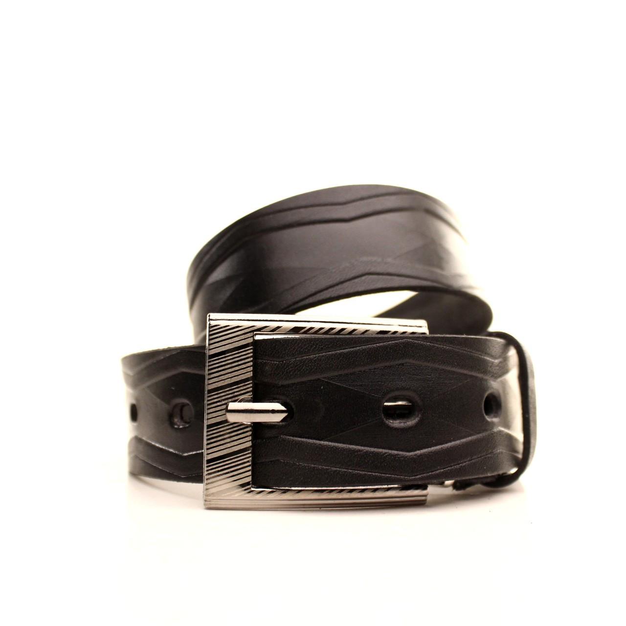 Ремень кожаный Lazar 70-80 см черный l30u3w18