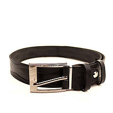 Ремень кожаный Lazar 70-80 см черный l30u3w18, фото 2