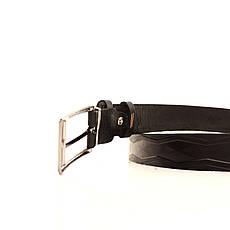 Ремень кожаный Lazar 70-80 см черный l30u3w18, фото 3