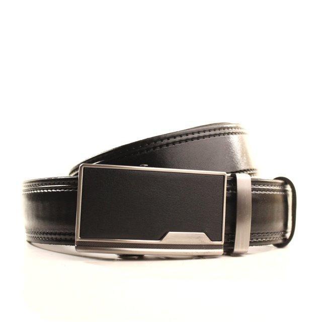 Ремень кожаный Lazar 105-115 см черный l35y1a6