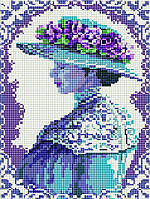 Алмазная мозаика вышивка Brushme Аристократическая дама EF004