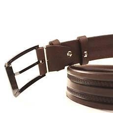 Ремень кожаный Lazar 105-115 см коричневый l35y1w6, фото 3