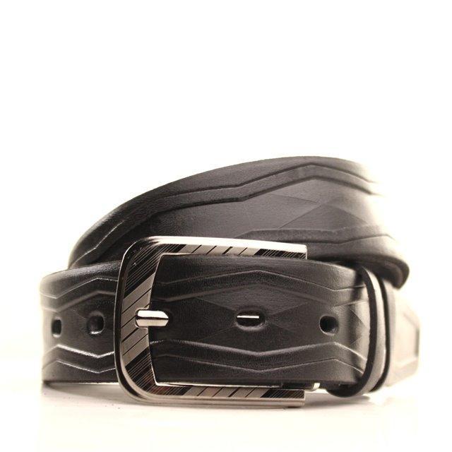 Ремень кожаный Lazar 105-115 см черный l35u1w78