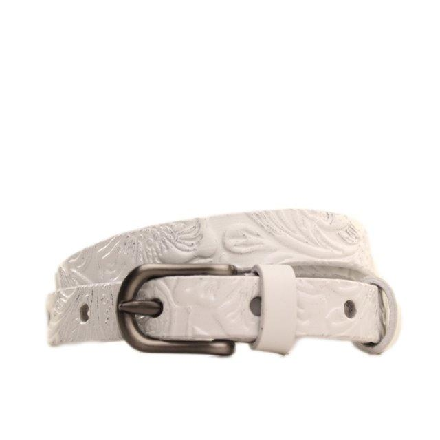 Ремень кожаный Lazar 120-125 см белый l15y0w8