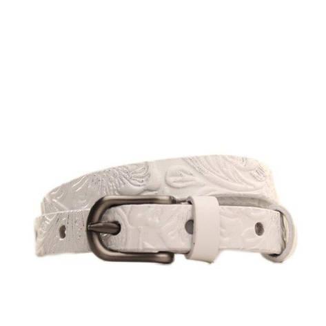 Ремень кожаный Lazar 120-125 см белый l15y0w8, фото 2